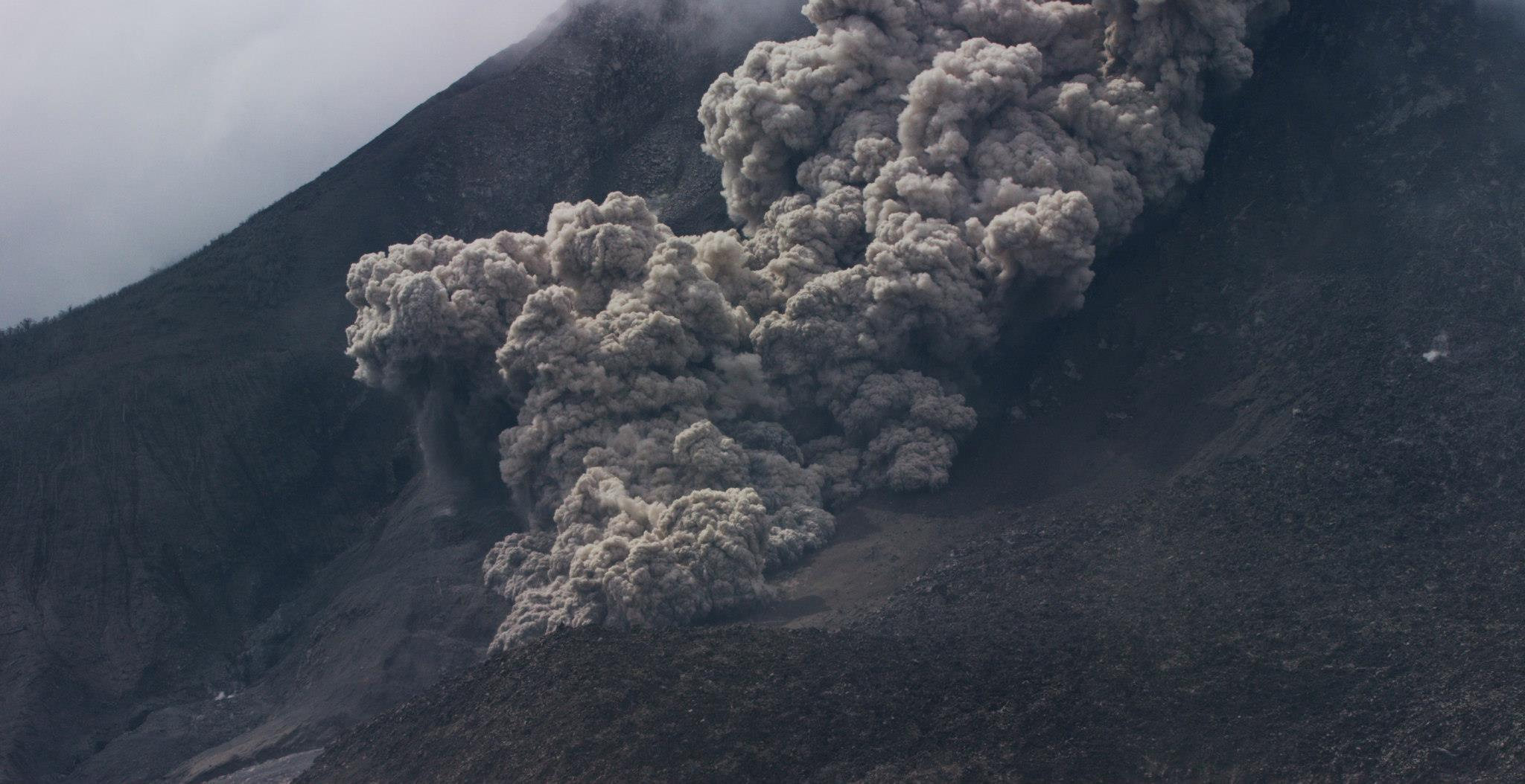 Volcano stock footage - pyroclastic flow - explosion