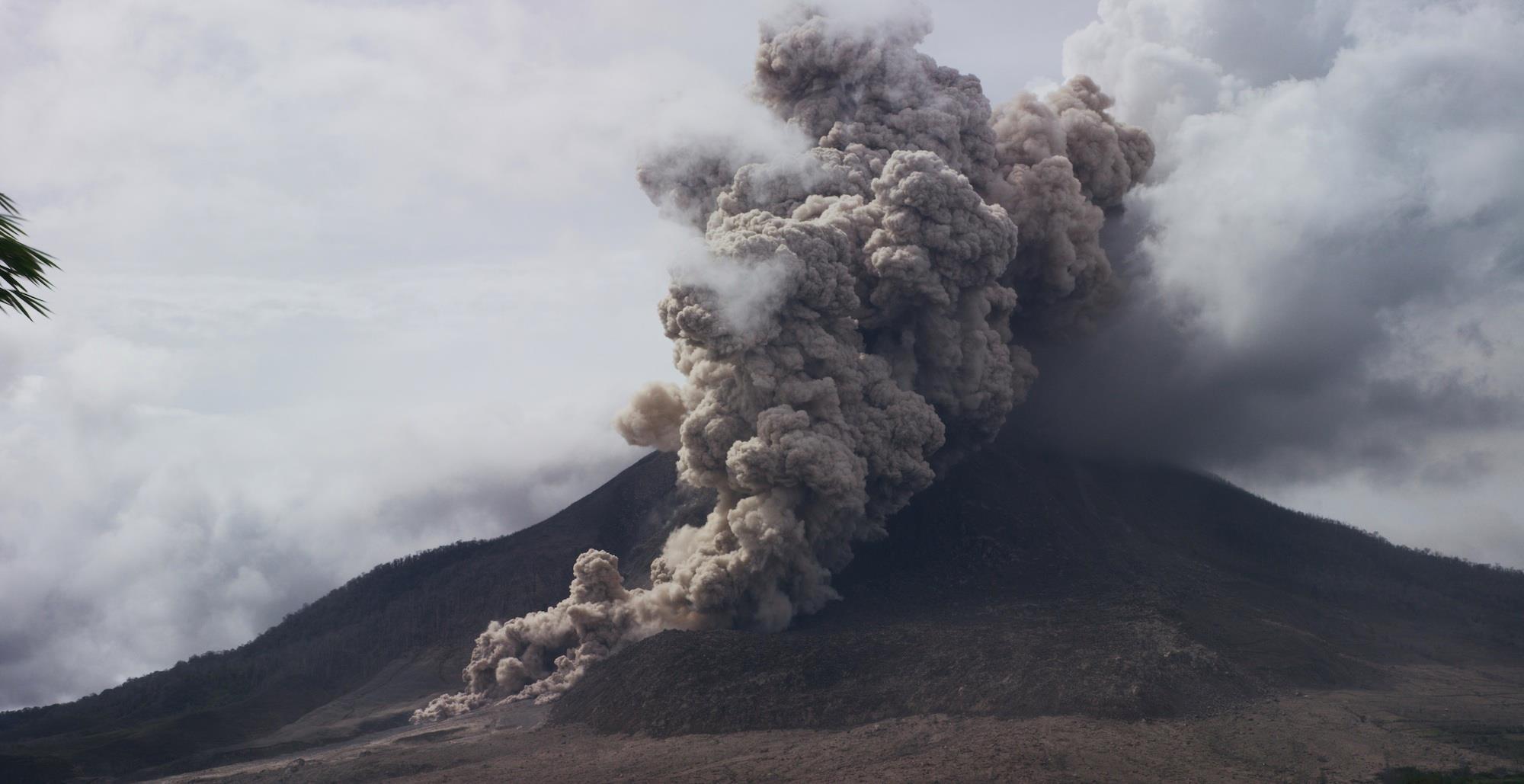 Volcanic eruption stock footage