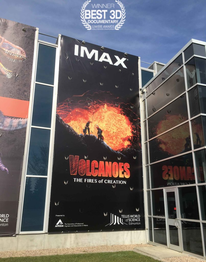 Volcanoes movie poster in Edmonton -award